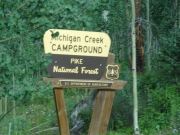 michigan_creek_campground_sign