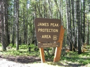 james_peak_protection_area_sign